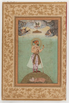 The Emperor Shah Jahan Standing on a Globe