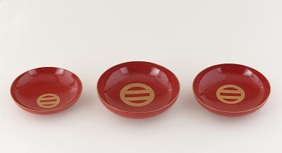 Set of three sake cups