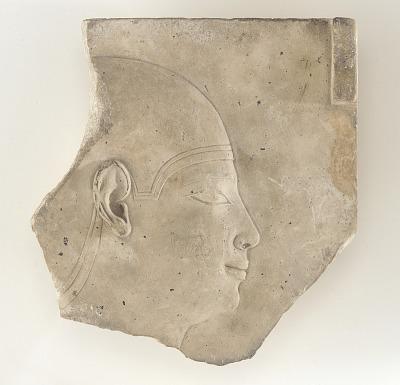 Sculptor's model depicting male head