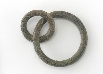 Two interlocked rings