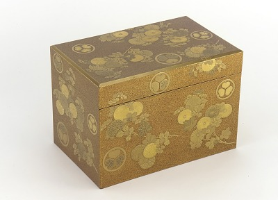 Covered cosmetic box