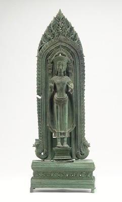 Standing Buddha and tabernacle