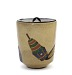 profile: Tea ceremony water jar with design of Gion Festival halberds