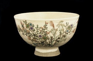 images for Tea bowl with design of autumn grasses-thumbnail 1