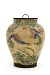 profile: Kyoto ware jar with design of phoenixes and paulownia crests