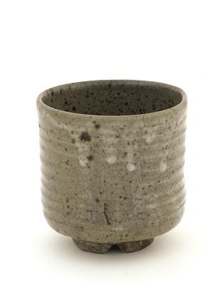 Asahi ware cylindrical tea bowl