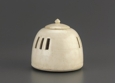 Miniature hand warmer or incense burner with lid