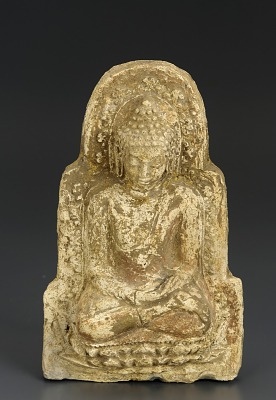 Votive tablet of the Buddha in dhyanamudra