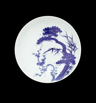 Nabeshima ware dish in one-shaku size