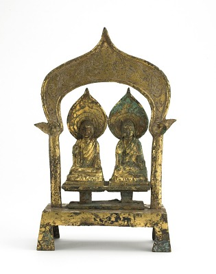 The Buddhas Prabhutaratna and Sakyamuni seated sided by side