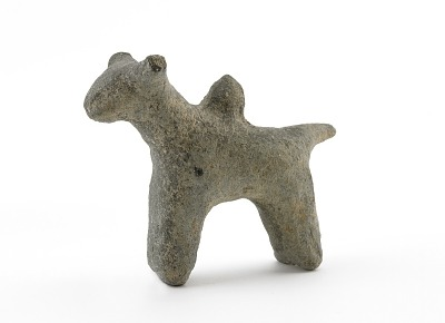 Spirit house figure of a humped bull