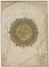 verso: Folio from an unidentified text; recto: text; verso: illuminated medallion with two ornamental borders