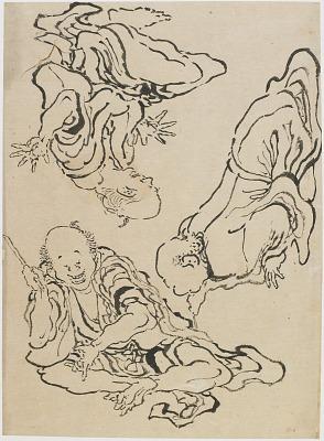 Three men gesticulating