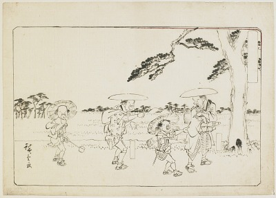 Preparatory drawing (<em>hanshita-e</em>) for a woodblock print