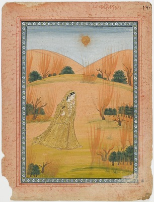 Woman Braving Difficulties to Meet her LoverWoman in landscape