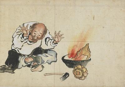 Burning a Buddhist Image