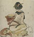 : Seated figure of a woman