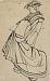 : Sketch of a courtesan