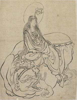Fugen Bosatsu seated on an elephant