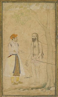 The Mughal Prince Parvez and a Holy Man