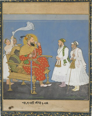 Muhammad Adil Shah II with courtiers and attendants