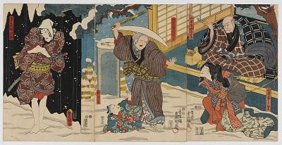 Kabuki Scene at the Yamanaya in the Yoshiwara Pleasure Quarter