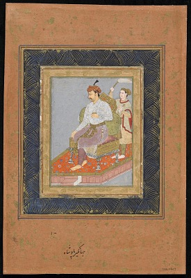 Seated prince with attendant