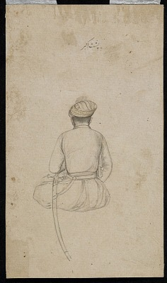 A seated courtier