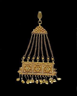 <em>Jhumar</em>, (hair ornament)