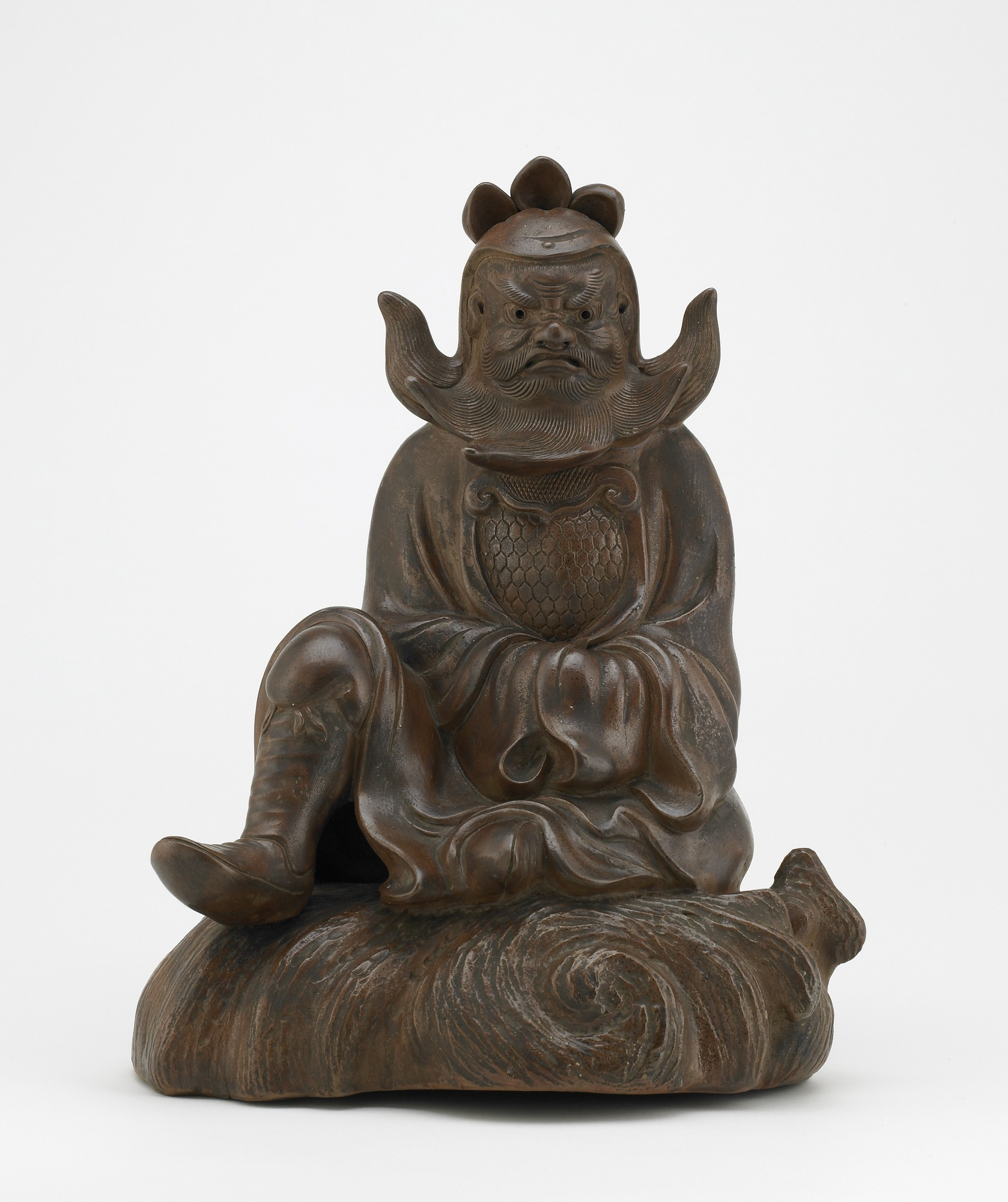 Figure of Shoki the Demon Queller, Bizen ware