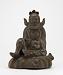 front: Figure of Shoki the Demon Queller, Bizen ware