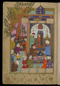images for Sufi riding a leopard from a <i>Bustan</i> (Orchard) by Sa'di (1291)-thumbnail 3