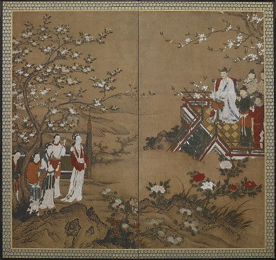 The Chinese emperor Ming Huang and Yang Kuei-fei