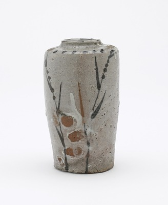 Karatsu ware hanging vase