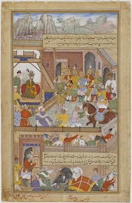 <em>Babur at the Capture of Kabul in 910 H (A.D. 1504) </em> from an <em>Akbarnama</em>