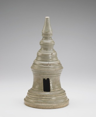 Vessel in the form of a stupa