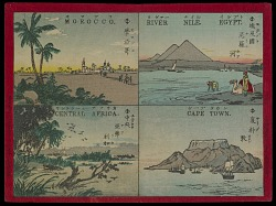 """""""River Nile, Egypt, Capetown, Central Africa, Morocco"""" from """"Famous Places in All Nations"""""""