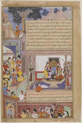 Kublai Khan and His Empress Enthroned, from a Jami al-Twarikh (or Chingiznama)