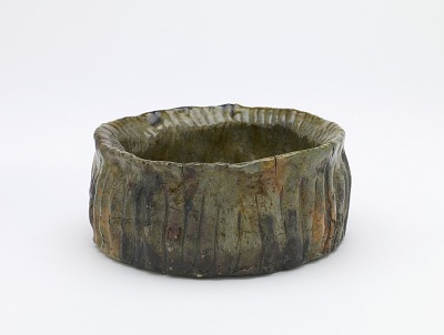 Tea ceremony rinse-water bowl, unknown Raku ware workshop