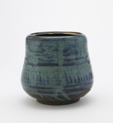 Tea ceremony water jar, Karatsu ware, Takeo Karatsu type
