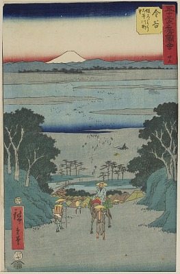 No. 25 Kanaya: View of the Ōi River from the Uphill Road from the series Pictures of Famous Places of the Fifty-three Stations