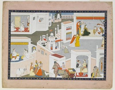 Court Scene, folio from a Bhagavata Purana