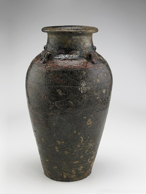 Jar with four vertical lugs and incised decoration