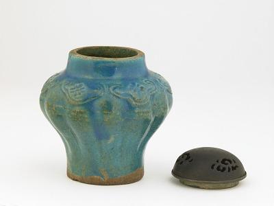 Jar used as incense burner