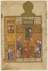 thumbnail for Image 1 - Folio from a Khamsa  (Quintet) by Nizami; recto: Bahram Gur and the Princess in the Yellow Pavilion; verso: text, Princess telling the story