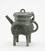 : Square lidded ritual ewer (fanghe) with taotie