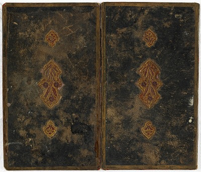 Lower cover of a Bookbinding (doublure)