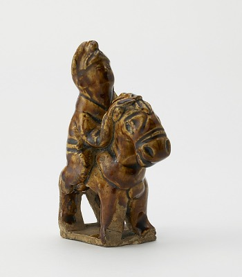 Figure of a horse and rider