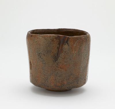Cylindrical tea bowl, unknown Raku ware workshop