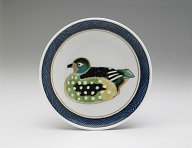 Dish with design of female mandarin duck (from a set of five)